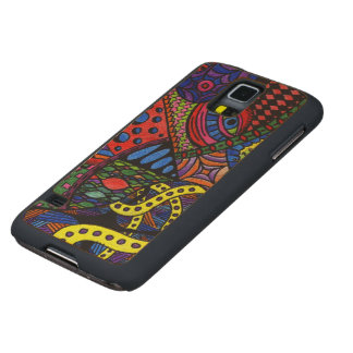Chaos Eye - colorful doodle painting Carved Maple Galaxy S5 Slim Case