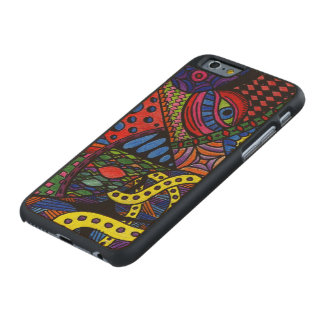 Chaos Eye - colorful doodle painting Carved Maple iPhone 6 Case