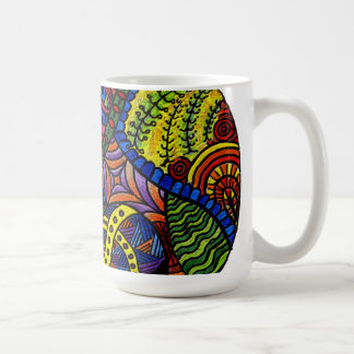 Chaos Eye - colorful doodle painting Coffee Mugs