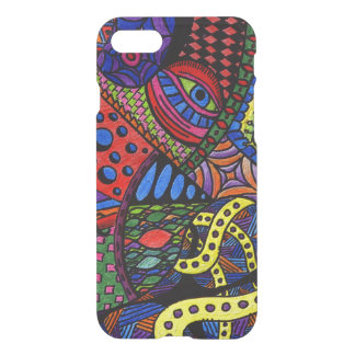 Chaos Eye - colorful doodle painting iPhone 7 Case