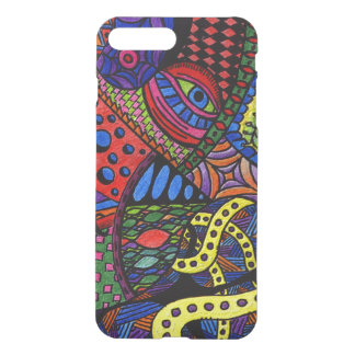 Chaos Eye - colorful doodle painting iPhone 7 Plus Case