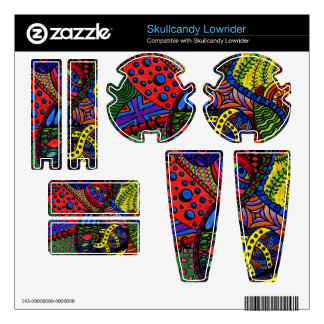Chaos Eye - colorful doodle painting Skullcandy Skin