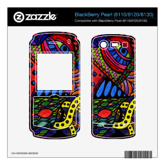 Chaos Eye - colorful doodle painting BlackBerry Pearl Decal