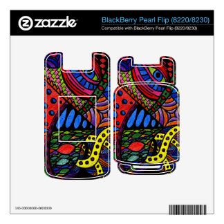 Chaos Eye - colorful doodle painting BlackBerry Skins