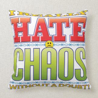 Chaos Hate Face Throw Pillows