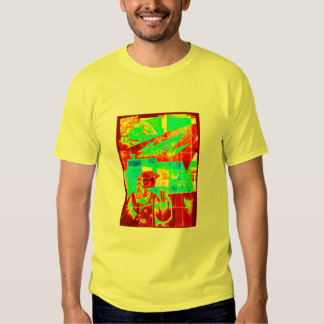 Chaos in red and green! shirt