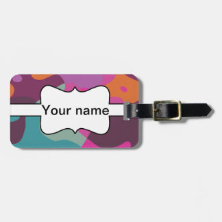 Chaos in retro colors bag tag