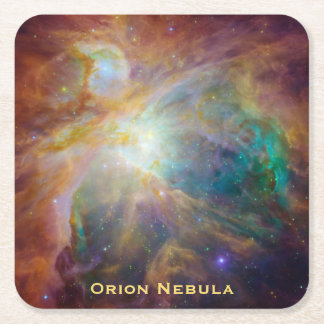 Chaos in the Heart of Orion Square Paper Coaster
