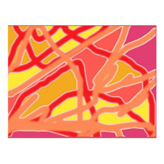 Chaos into Form Digital Art Postcard - Pink