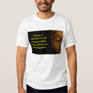 Chaos Is Inherent In All Compounded Things Tee Shirts