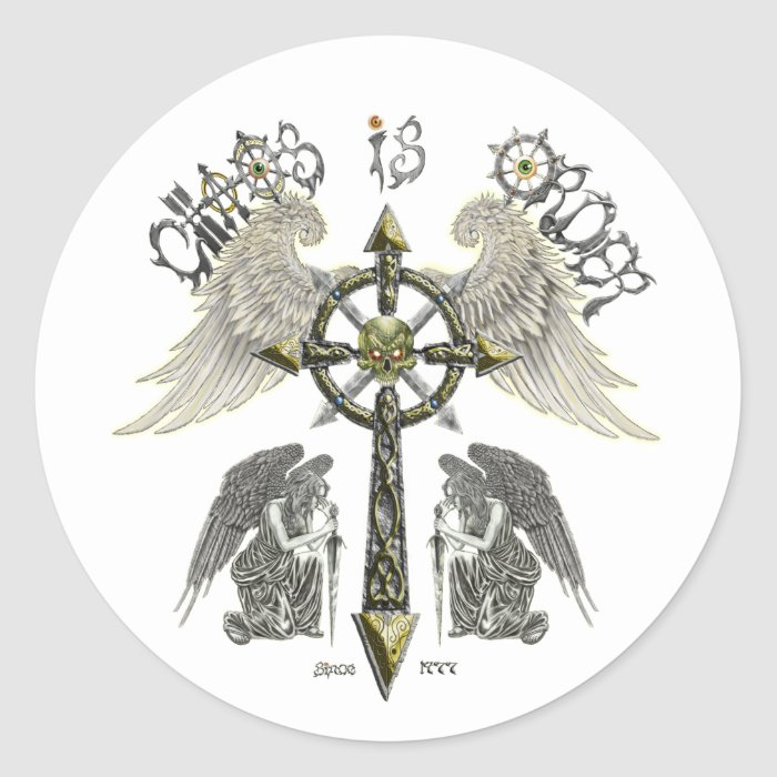 Chaos is Order Classic Round Sticker