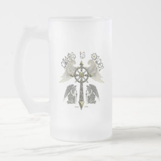 Chaos is Order Frosted Glass Beer Mug
