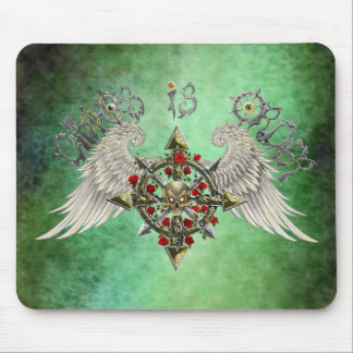 Chaos is order (green) mouse pad