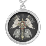 Chaos is order the balance silver plated necklace