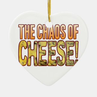 Chaos Of Blue Cheese Ceramic Ornament