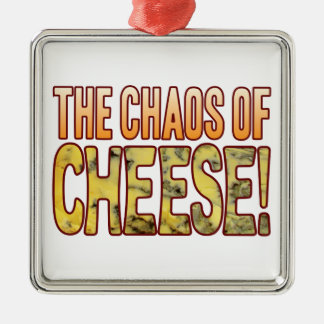 Chaos Of Blue Cheese Metal Ornament