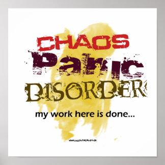 Chaos Panic Disorder Posters