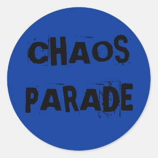 CHAOS PARADE ROUND STICKERS