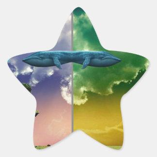 Chaos Planet Star Sticker