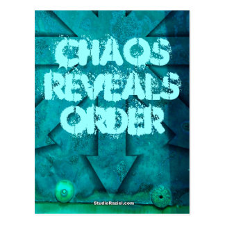 Chaos Reveals Order Postcards