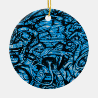 Chaos Sketch Ceramic Ornament