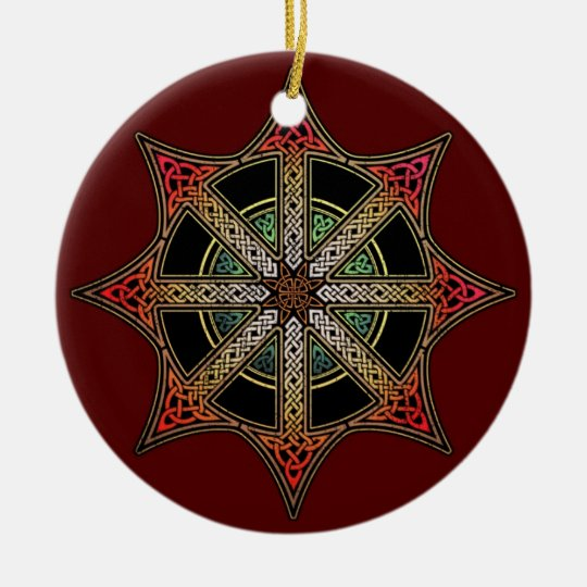 Chaos Star Pendant/Ornament Ceramic Ornament