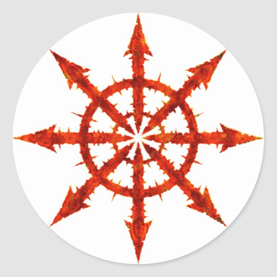 Chaos Symbol Classic Round Sticker