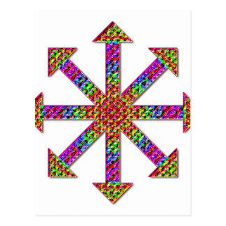 Chaos Symbol Psychedelic Postcard