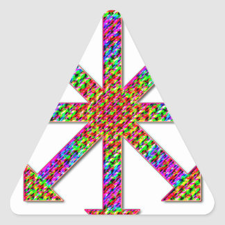 Chaos Symbol Psychedelic Triangle Sticker