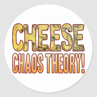 Chaos Theory Blue Cheese Classic Round Sticker