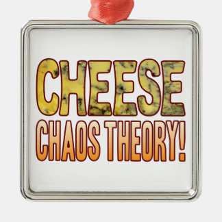 Chaos Theory Blue Cheese Metal Ornament