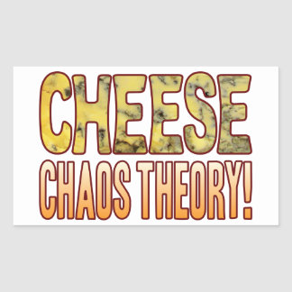 Chaos Theory Blue Cheese Rectangular Sticker
