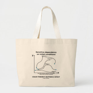Chaos Theory's Butterfly Effect Large Tote Bag