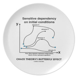 Chaos Theory's Butterfly Effect (Sensitivity) Dinner Plate