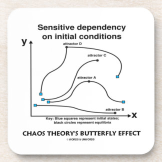 Chaos Theory's Butterfly Effect (Sensitivity) Drink Coaster