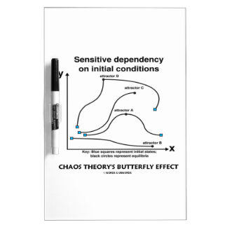 Chaos Theory's Butterfly Effect (Sensitivity) Dry-Erase Board