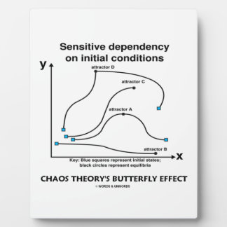 Chaos Theory's Butterfly Effect (Sensitivity) Plaque