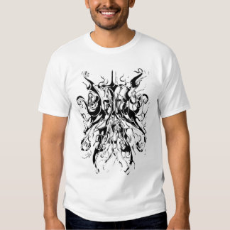 Chaos Tribal Tattoo Black and White Distortion T-Shirt