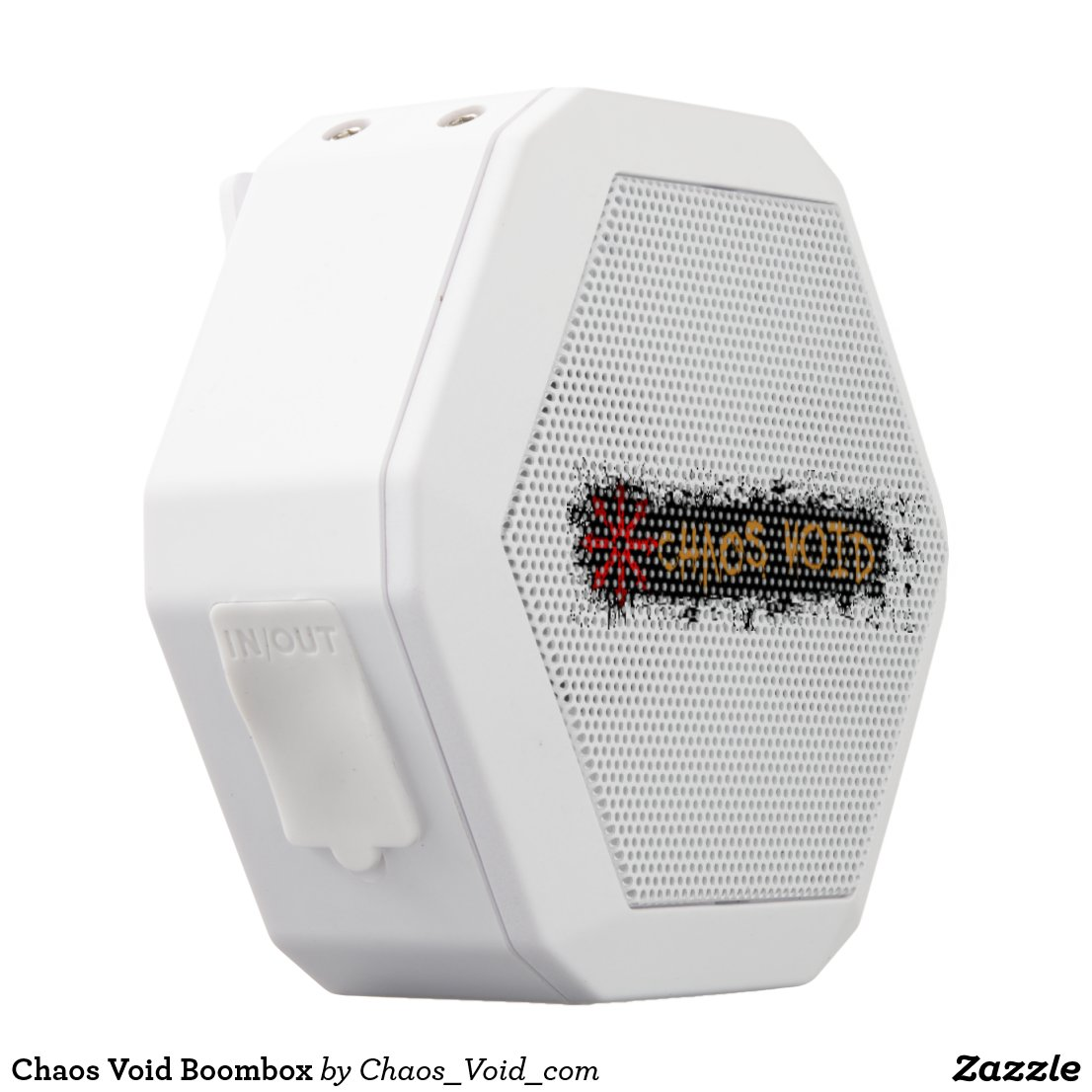 Chaos Void Boombox White Bluetooth Speaker