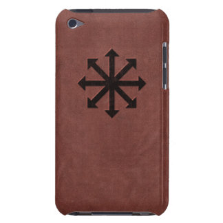 Chaosphere - Occult Magick Symbol on Red Leather Barely There iPod Covers