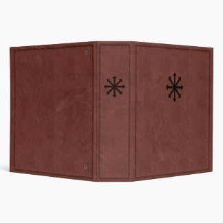 Chaosphere - Occult Magick Symbol on Red Leather 3 Ring Binders