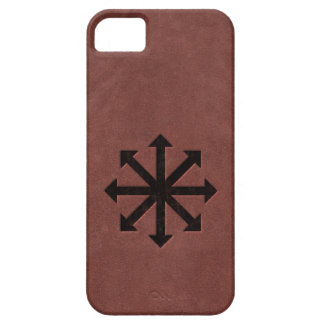 Chaosphere - Occult Magick Symbol on Red Leather iPhone 5 Cover