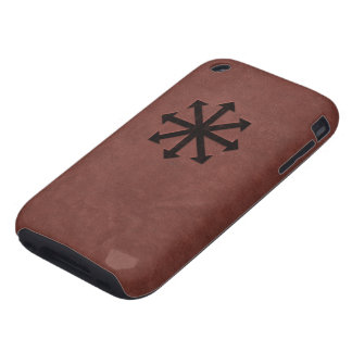Chaosphere - Occult Magick Symbol on Red Leather iPhone 3 Tough Case