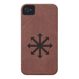 Chaosphere - Occult Magick Symbol on Red Leather iPhone 4 Case