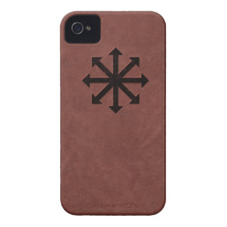 Chaosphere - Occult Magick Symbol on Red Leather iPhone 4 Cover