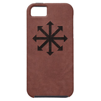 Chaosphere - Occult Magick Symbol on Red Leather iPhone 5 Case