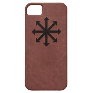 Chaosphere - Occult Magick Symbol on Red Leather iPhone SE/5/5s Case