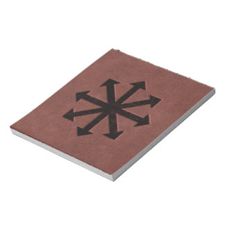 Chaosphere - Occult Magick Symbol on Red Leather Notepad
