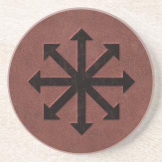 Chaosphere - símbolo oculto de Magick en el cuero  Posavasos Manualidades