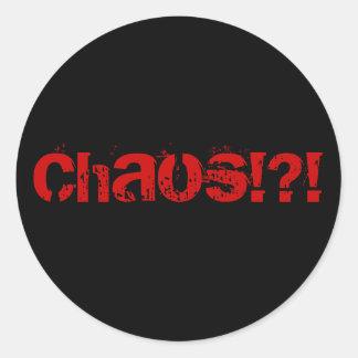 ChaosSTICKER Classic Round Sticker